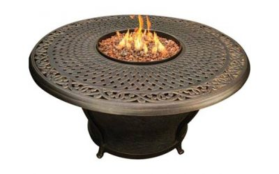 """Charleston 48"""" Fire Table Cast Top Beads"""
